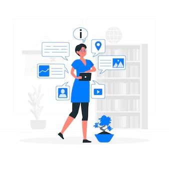 Illustration de concept d'information instantanée