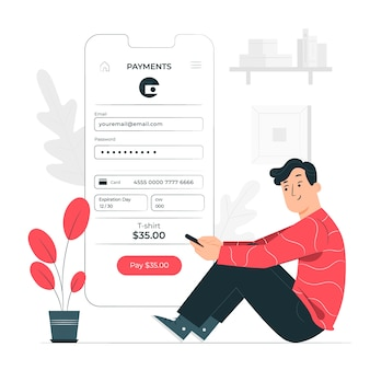 Illustration de concept d'information de paiement