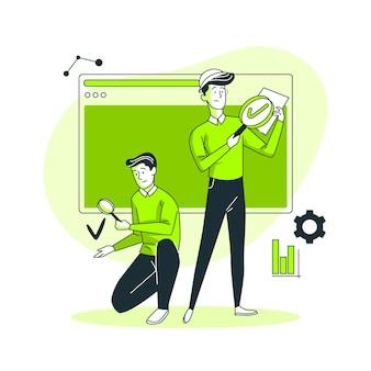 Illustration de concept d'ingénieurs qa