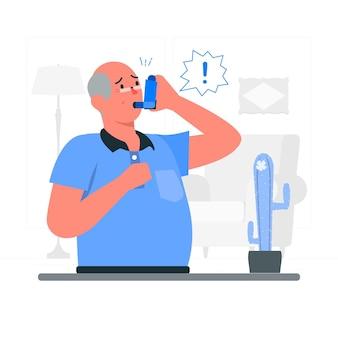 Illustration de concept d'inhalateur
