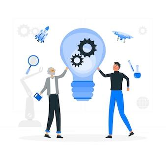 Illustration de concept d'innovation
