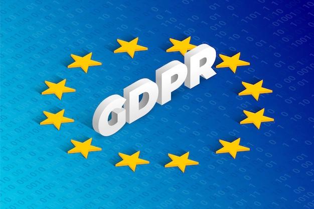 Illustration de concept isométrique gdpr. règlement général sur la protection des données