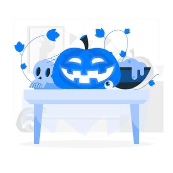 Illustration de concept jack o'lantern