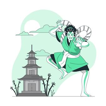 Illustration de concept de japon