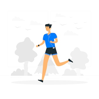 Illustration de concept de jogging