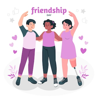 Illustration de concept de jour de l & # 39; amitié