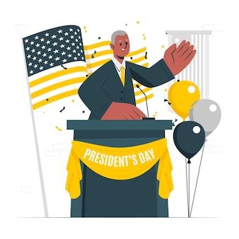 Illustration de concept de jour du président