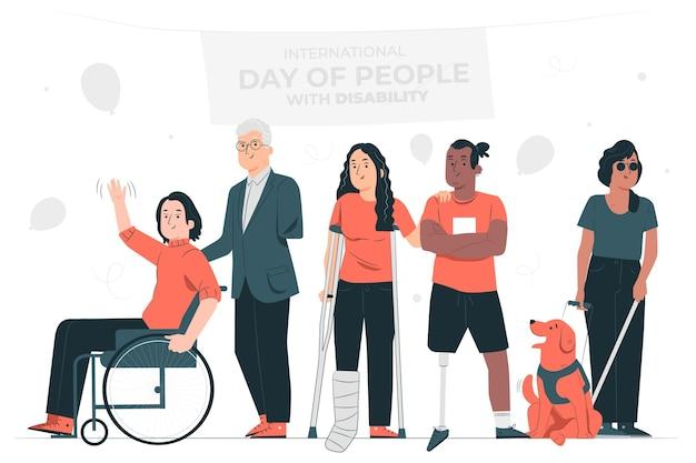 Illustration de concept de jour handicapé