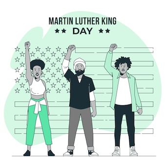Illustration de concept de jour de martin luther king