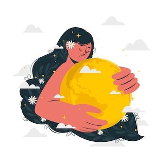 Illustration de concept de jour de la terre mère