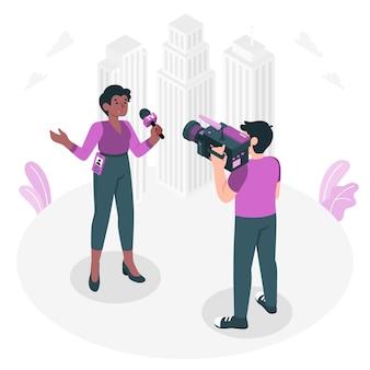 Illustration de concept de journaliste