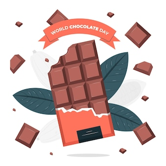 Illustration de concept de la journée mondiale du chocolat