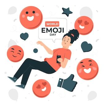 Illustration de concept de journée mondiale emoji