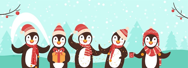 Illustration De Concept Joyeux Noël Vecteur Premium