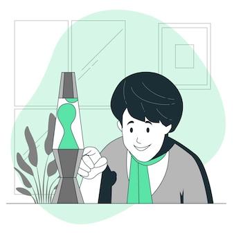 Illustration de concept de lampe à lave