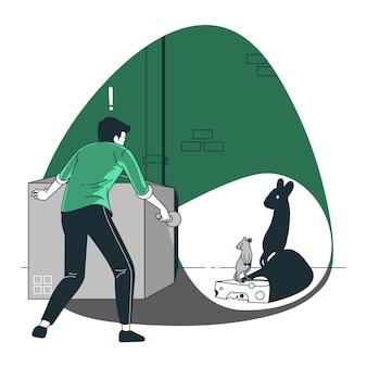Illustration de concept de lampe de poche
