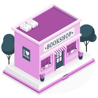 Illustration de concept de librairie