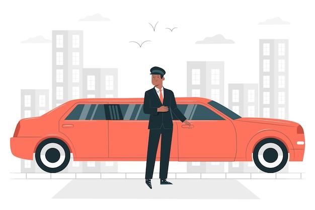 Illustration de concept de limousine