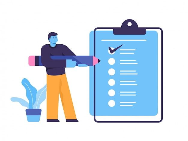 Illustration de concept de liste de contrôle