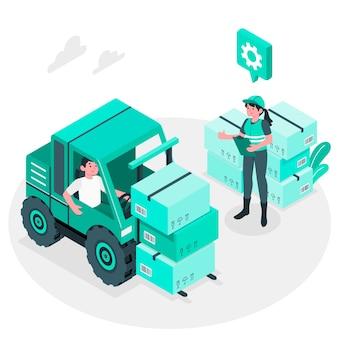 Illustration de concept de logistique