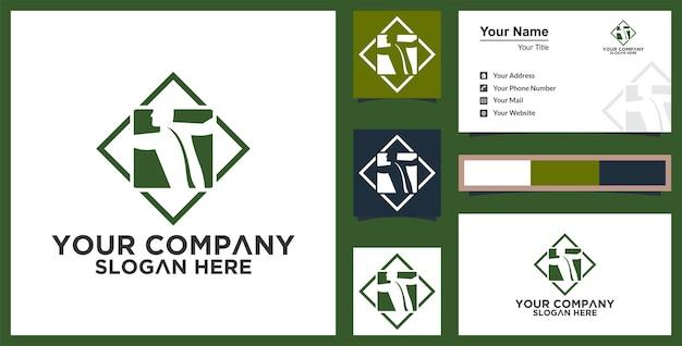 Illustration de concept de logo vectoriel logo humain et carte de visite