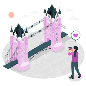 Illustration de concept de londres