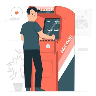 Illustration de concept de machine d'arcade