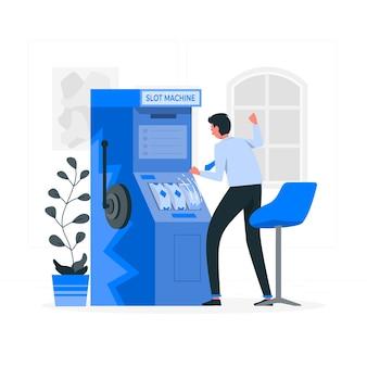 Illustration de concept de machine à sous