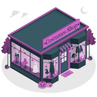 Illustration de concept de magasin de costumes