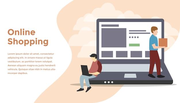 Illustration de concept de magasin en ligne