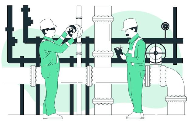 Illustration de concept de maintenance de pipeline