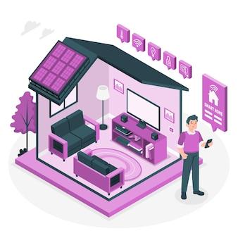 Illustration de concept de maison intelligente