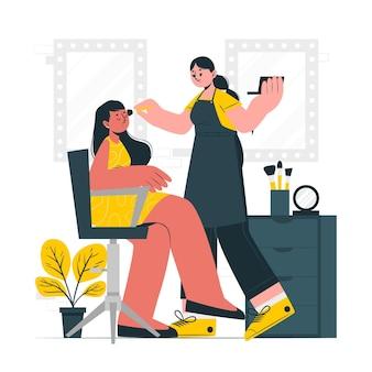 Illustration de concept de maquilleur