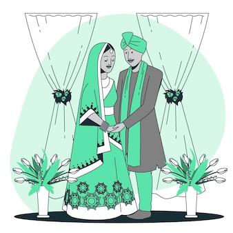 Illustration de concept de mariage indien