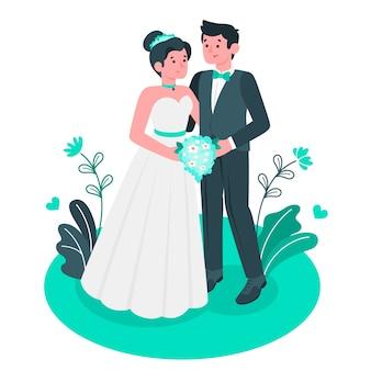 Illustration de concept de mariage