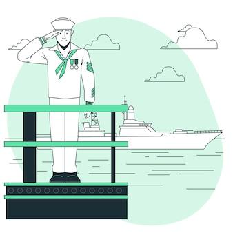 Illustration de concept de marin