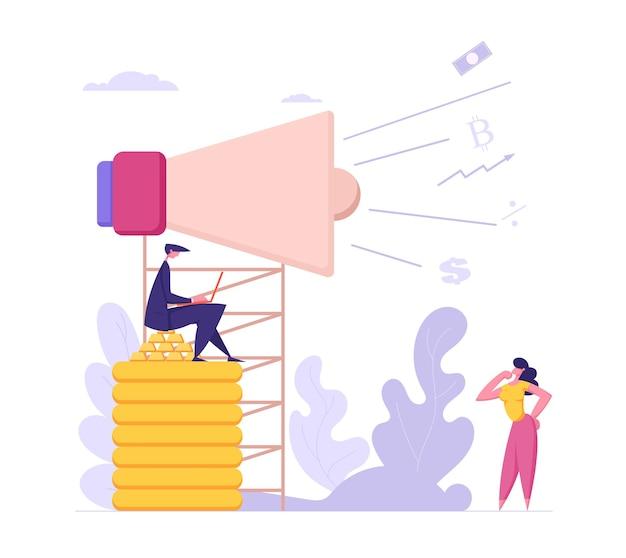 Illustration de concept de marketing de médias sociaux