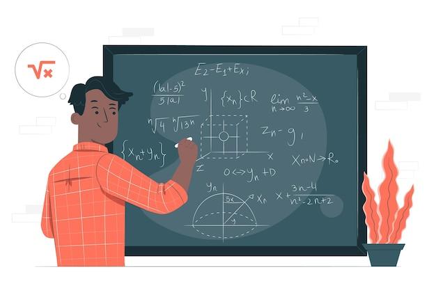 Illustration de concept de mathématiques
