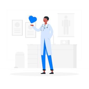 Illustration de concept de médecin