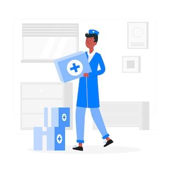 Illustration de concept de médecine