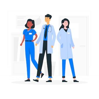 Illustration de concept de médecins