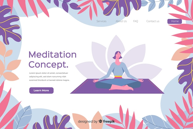 Illustration de concept de méditation