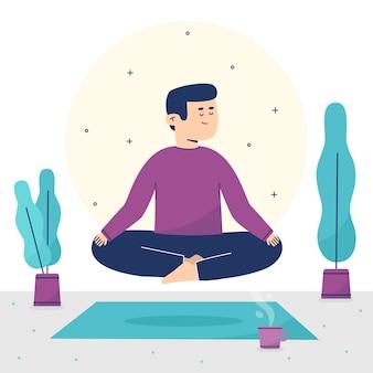 Illustration de concept de méditation