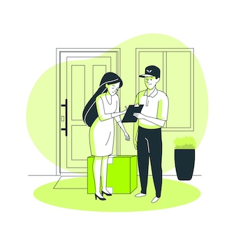 Illustration de concept de messager