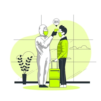 Illustration de concept de mesure de température