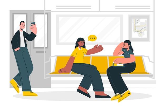 Illustration de concept de métro