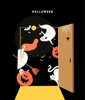 Illustration de concept mignon jour halloween