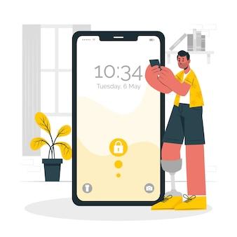 Illustration de concept mobile