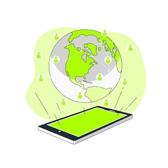 Illustration de concept de monde en ligne