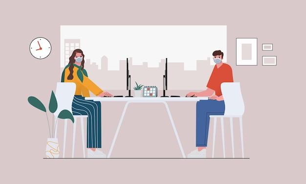 Illustration de concept mondial de discussion sur les médias sociaux